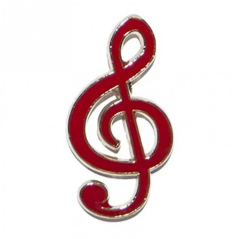 PIN CLAVE DE SOL ROJA GMUSICAL G Musical - 1