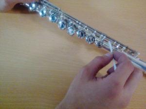 Limpieza zapatillas flauta