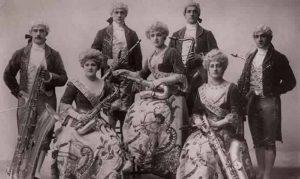 banda de saxofones en 1870
